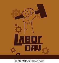 Hand Hold Hammer Labor Day May Holiday
