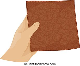 Hand Hold Leather Illustration