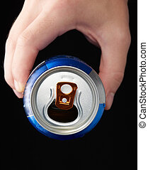 Hand hold metal can