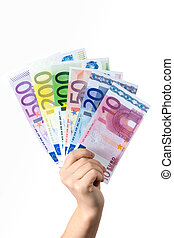 Hand hold money