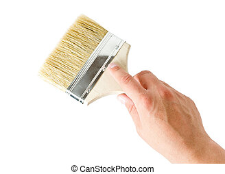 hand holding a brush