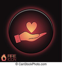 hand holding a heart symbol