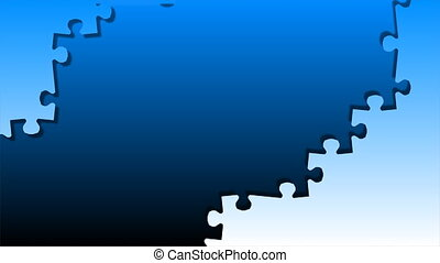 Hand holding a piece of puzzle. Business concept