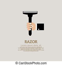 Hand Holding A Razor.