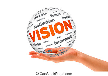 Hand holding a Vision 3D Sphere