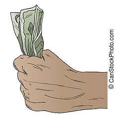 Hand Holding American Money