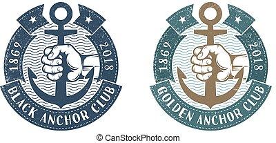 Nautical retro logo
