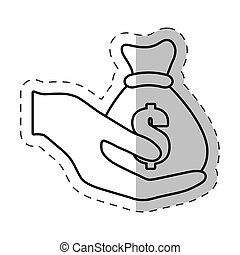 hand holding bag money dollar