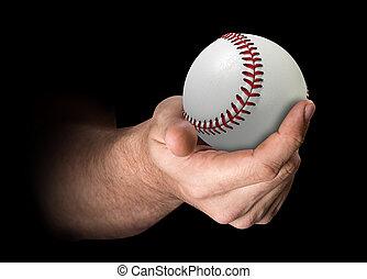 Hand Holding Baseball