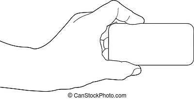 Hand holding blank paper
