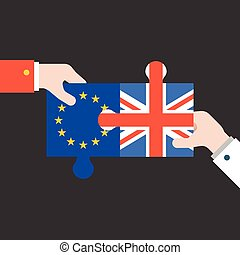 hand holding Britain and euro