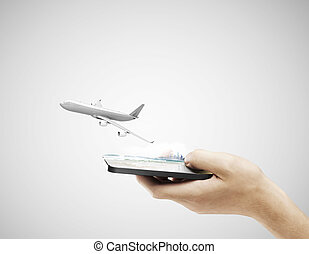 cellphone and airplane