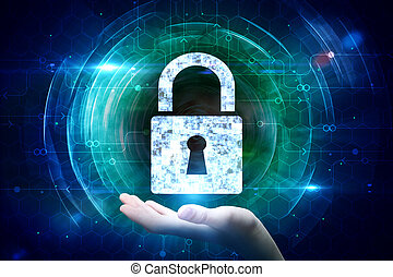 Web safety and encryption concept