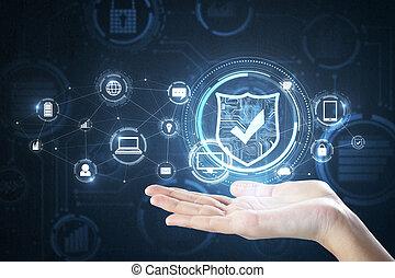Internet safety concept