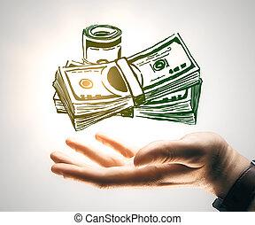 Cash concept