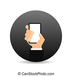 hand holding device icon