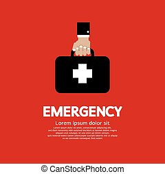 Hand Holding First Aid Box. - Hand Holding First Aid Box...