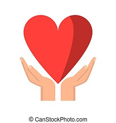hand holding heart healthcare