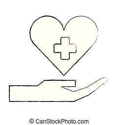 hand holding heart medical healthcare