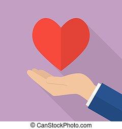 Hand holding heart