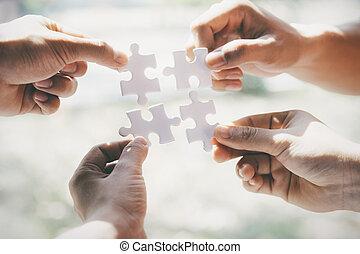 Business partnership concept.