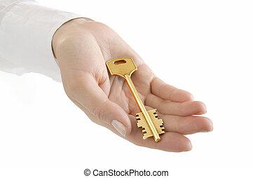 Hand holding keys