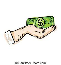 hand holding money bill