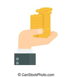 hand holding pile money