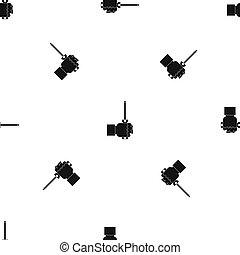 Hand holding screwdriver tool pattern seamless black