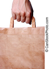 hand holding shopping bag