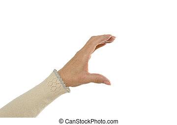 Hand holding something