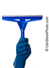 Hand Holding Squeegee