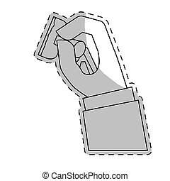 hand holding stamp icon image