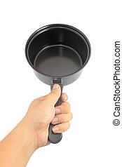 Hand holding stewpot