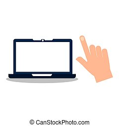 hand holding tablet icon