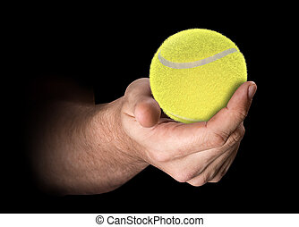 Hand Holding Tennis Ball