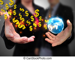 hand holding US dollar