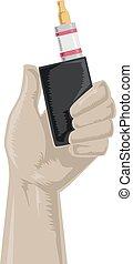 Hand Holding Vape Illustration