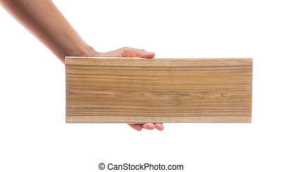 hand holding wooden
