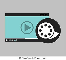 hand holds digital player film reel