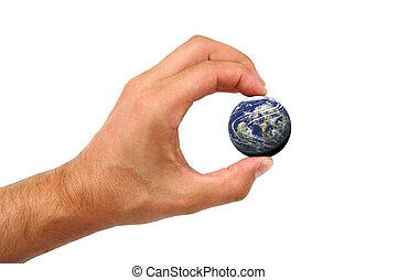 hand houdend, aarde