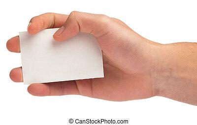 hand houdend, een, kaart