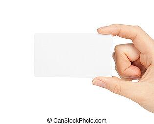 hand houdend, visitekaartje
