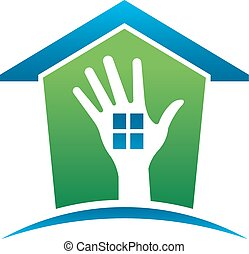 Hand house template for Real Estate