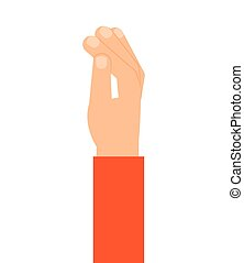 hand human finger index icon vector isolated graphic