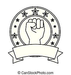 hand human fist emblem