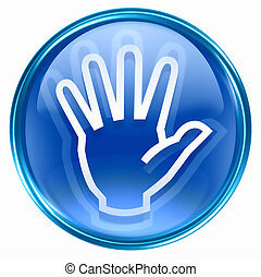 hand icon blue