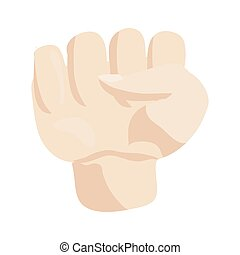 Hand icon, cartoon style