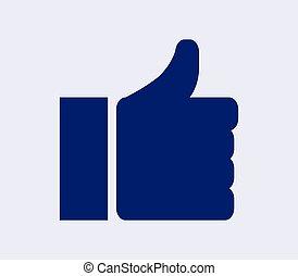 hand icon I like it
