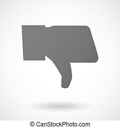 hand icon on white background